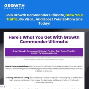 Masterclass Registration - Learn More - GrowthCommander