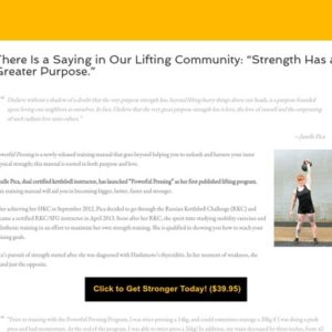 """There Is a Saying in Our Lifting Community: """"Strength Has a Greater Purpose."""" - Janelle Pica"""