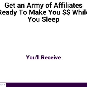 Landing Page - How To Get Affiliates